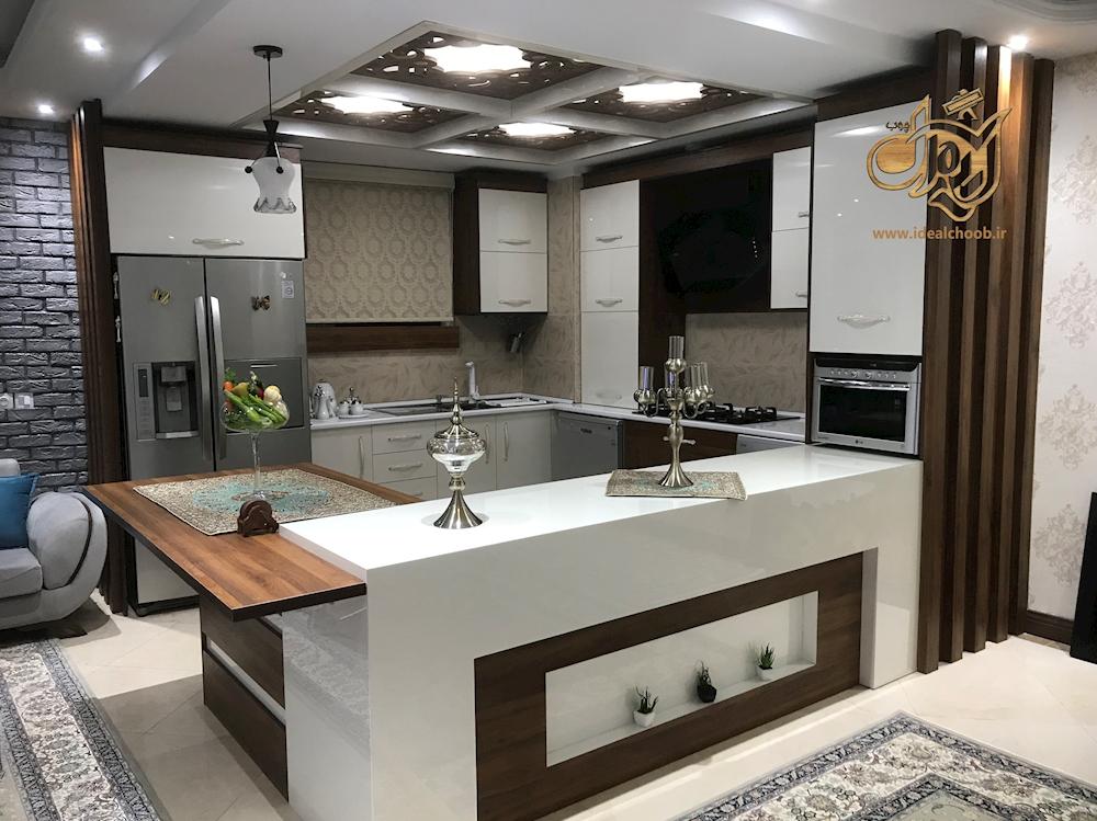 آشپزخانه حجمی مدرن